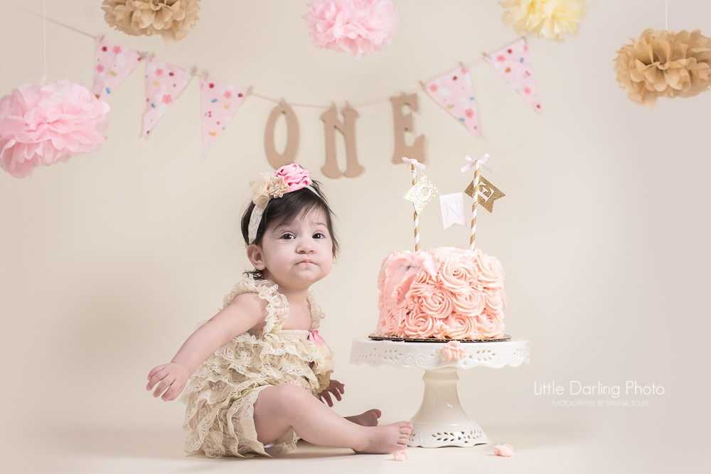 First birthday photo